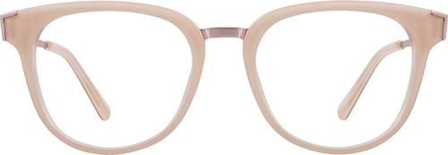 Nude Pink Square Glasses