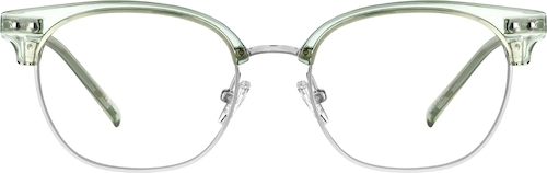 Green Browline Glasses