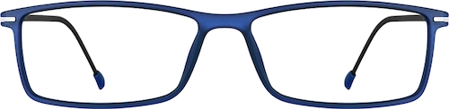 Navy Rectangle Glasses