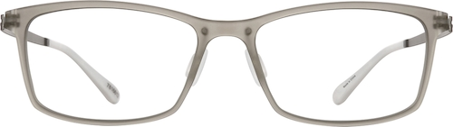 Translucent Gray Rectangle Glasses