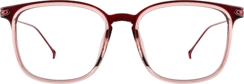 Cranberry Square Glasses