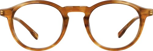 Caramel Round Glasses