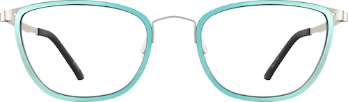 Aqua Blue Cat-Eye Glasses