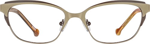 Mocha Cat-Eye Glasses