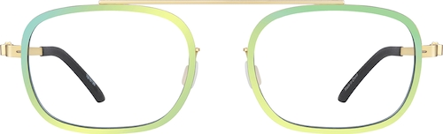 Chartreuse Rectangle Glasses