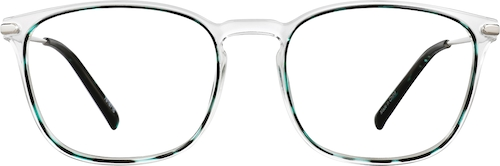Green Tortoiseshell Square Glasses
