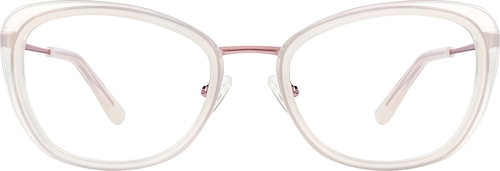 Cream Cat-Eye Glasses