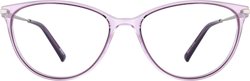 Lilac Oval Glasses