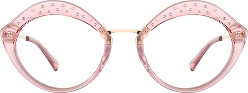 Pink Lip-Shaped Glasses