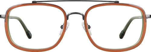 Orange Rectangle Glasses