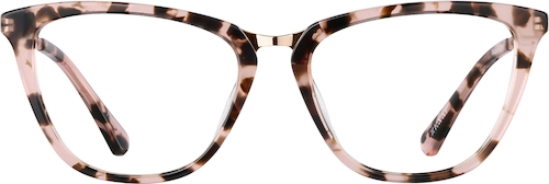 Pink Tortoiseshell Cat-Eye Glasses