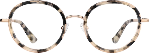 Black Tort Round Glasses