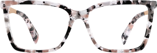 Pink Tortoiseshell Square Glasses