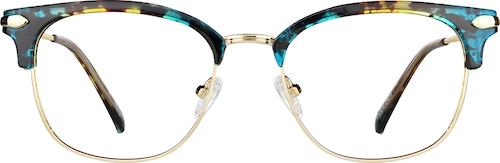 Green Tortoiseshell Browline Glasses