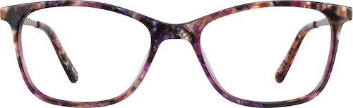 Purple Tort Rectangle Glasses