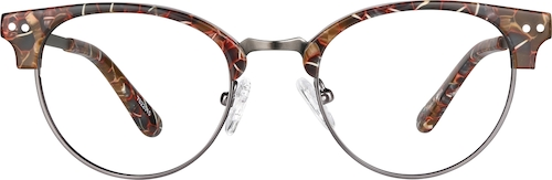 Brown Pattern Browline Glasses