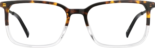 Classic Tortoiseshell Rectangle Glasses
