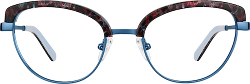 Blue Browline Glasses