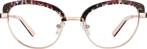 Rose Gold Browline Glasses