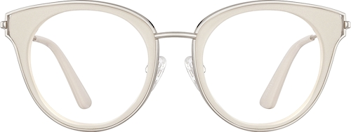 White Cat-Eye Glasses