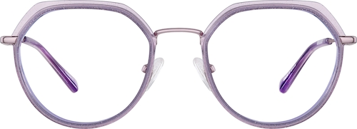 Purple Geometric Glasses