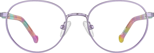 Purple Kids' Oval Glasses