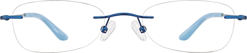 Blue Rimless Glasses