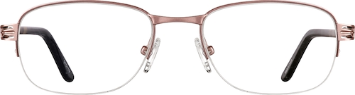 970719 Stainless Steel Half-Rim Frame with Acetate Temples (Same Appearance as Frame #4707)
