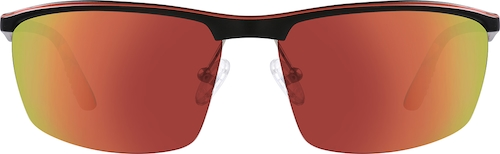 Red Non-Prescription Sport Sunglasses