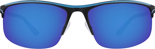 Blue Non-Prescription Sport Sunglasses